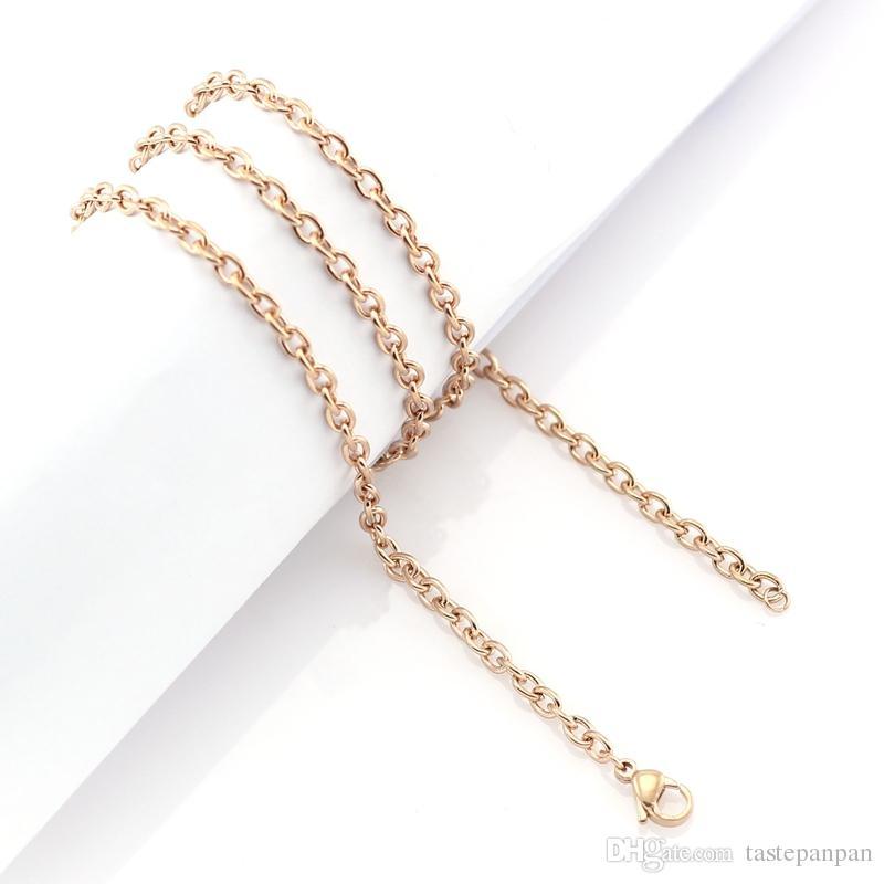 Panpan ювелирные изделия 3.5 мм ширина из нержавеющей стали o образный цепь для плавающей очарование стеклянный медальон, нет медальон