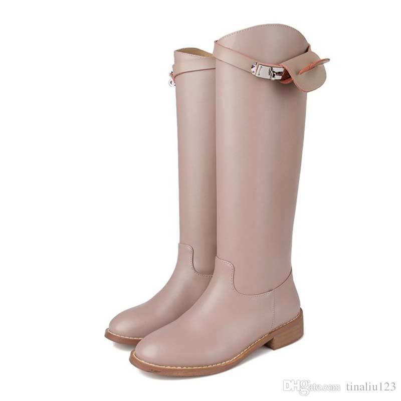Botas altas de muslo redondas Toe superior de ante superior con botas de rodilla ZEwWVQEE