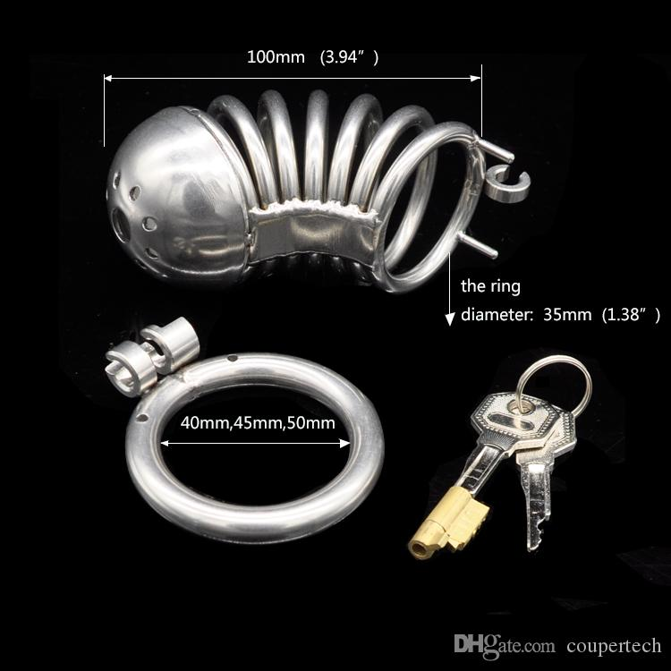 COUPER,Stainless Steel Male Chastity Device,Cock Cage,Virginity Lock,Penis Lock,Cock Ring,Chastity Belt,Adult Game,CPA223