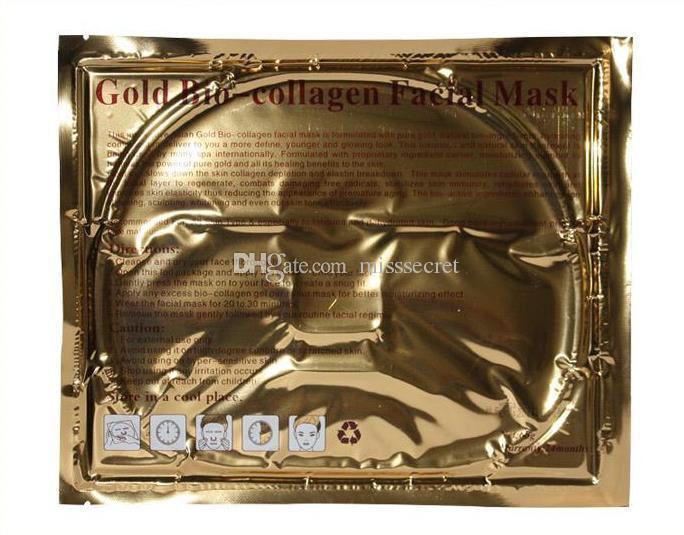 24K Gold Powder Bio Коллаген маска Альбумин Кристалл маска для лица девушки Женщина по уходу за кожей гель маска для лица маски для лица Пилинги Свободный DHL