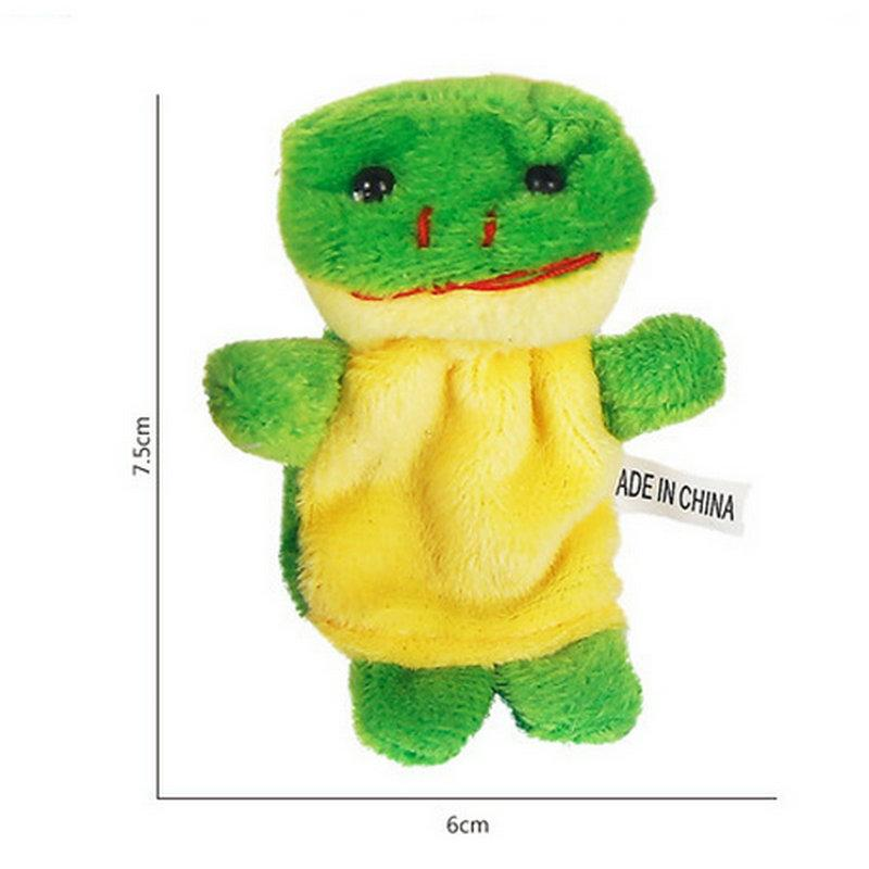Baby Plush Toy Finger Puppets fashion Stuffed Animals plus animals creative Talking Props 10 animal group best quality gift 05