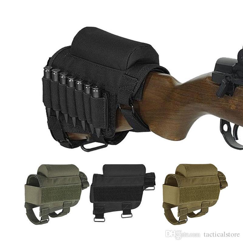 التكتيكية نايلون الذخيرة buttstock شل حامل الخد الراحة حالة الحقيبة الحافظة للصيد بندقية رماية بندقية .308 أو .300 winmag