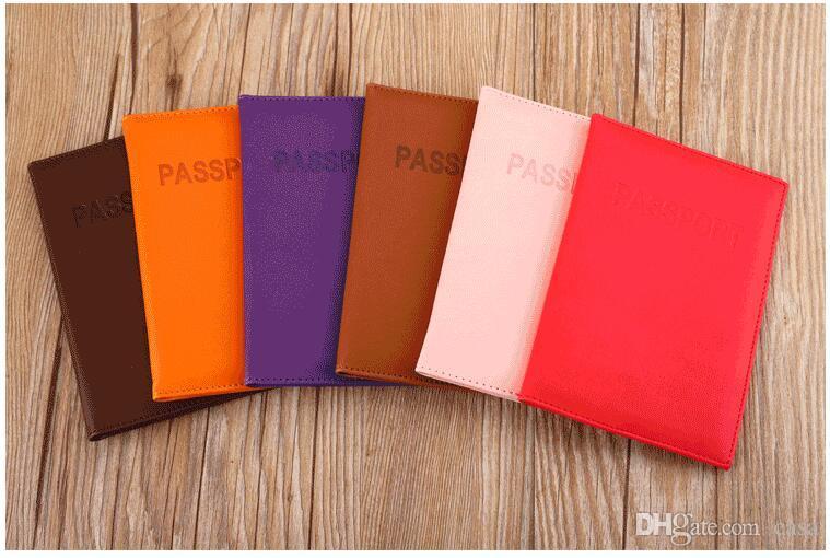 350 stücke Hohe Qualität Koreanischen Stil 11 Farben Reisepass Brieftaschen Kartenhalter Abdeckung Fall Schutz Pu-leder Reise Kartenhalter