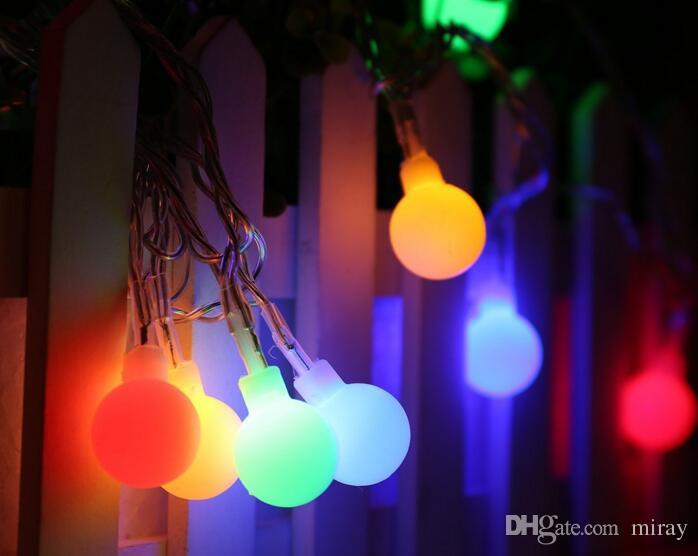 LED holiday lights on the Christmas lights all star ball lamp series arrangement of outdoor activities and creative small white ball ball la