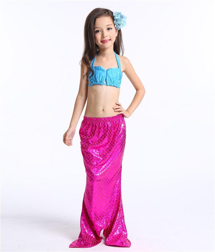 Costume da bagno a sirena bambina Costume da bagno a sirena bikini Costume da tre pezzi Costume da bagno Girsl Costume da bagno bambini i TA145