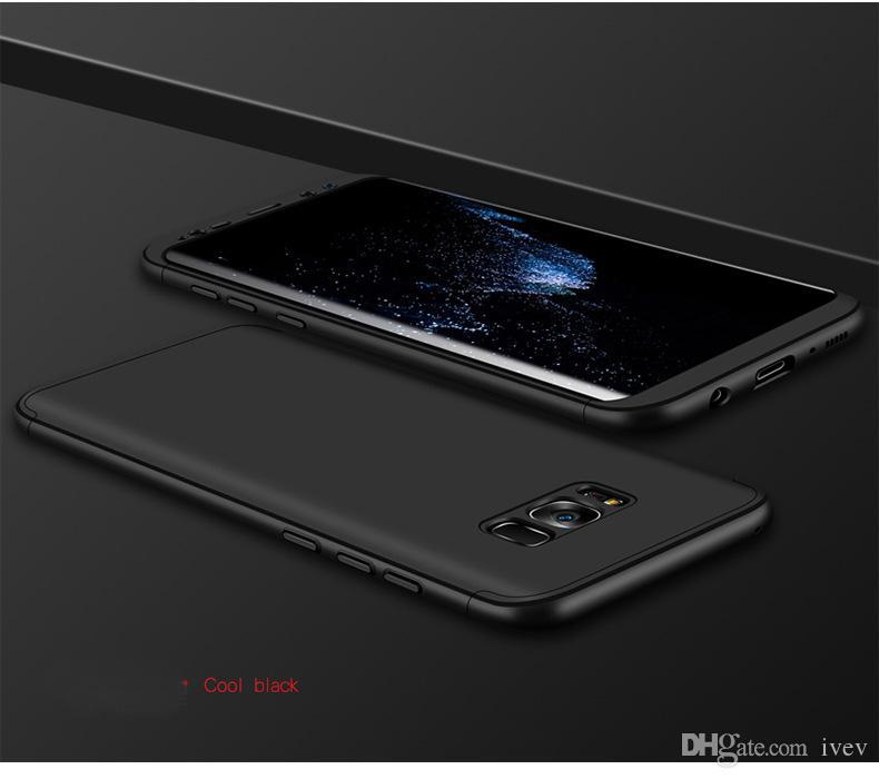 2017 НОВОЕ Прибытие 360 ° всего тела крышка Защитный чехол для Samsung Galaxy S8 телефон Чехлы для Galaxy S8 плюс 3-слойная оболочка Роскошный Бесплатная доставка