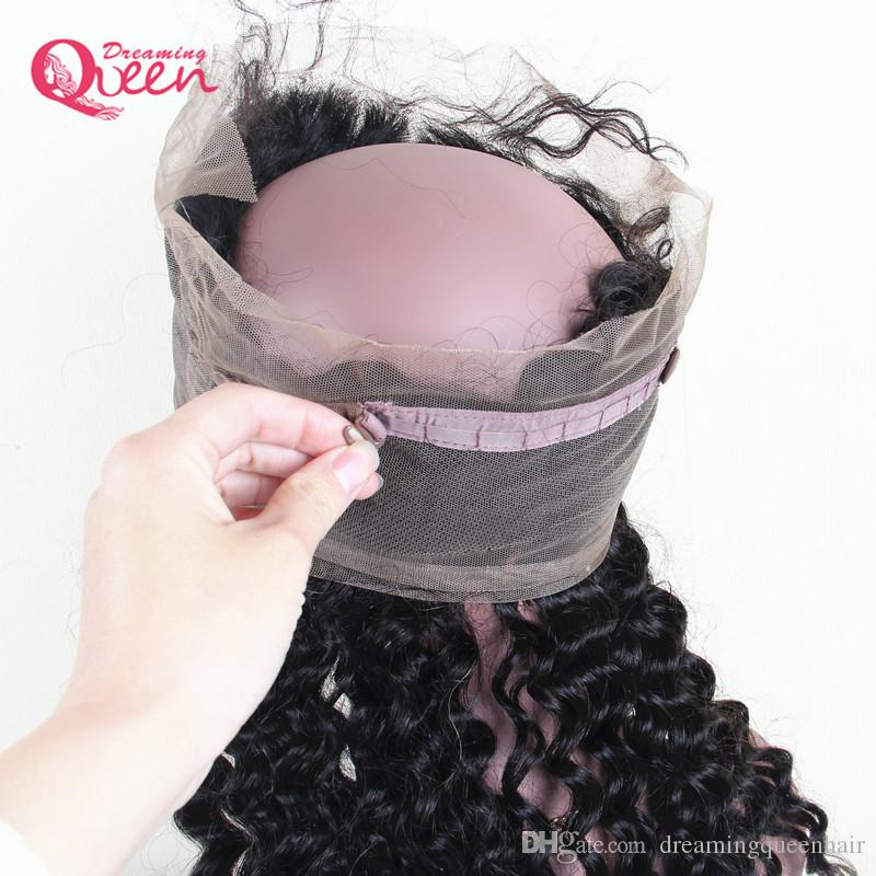 360 Lace Frontal Full Lace Closure Brazilian Deep Wave Virgin Human Hair Pre Plucked Closure With Baby Hair Natural Hairline Top Lace