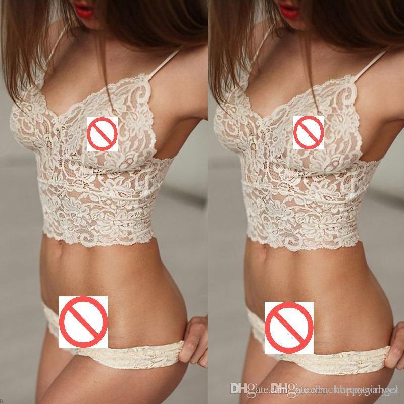0b173d438f033 2019 Sexy Fashion New Lace Bra Vest T Pants Bikini Lingerie Underwear Sets  Plus Size Women Condole Belt Clubwear Sleepwear Nightwear Pajamas Suit From  ...