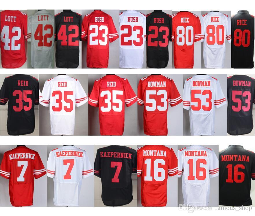 43cdd085e ... (Youth 2017 Wholesale 7 Colin Kaepernick Jersey 16 Joe Montana 35 Eric  Reid 53 Navorro Bowman 80 Womens Nike San Francisco 49ers ...