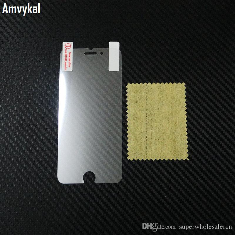 Amvykal For iphone X XR XS Max 5s SE 6s 7 8 Plus PET Clear Screen Protector Screen Guard Film  Not Tempered Glass