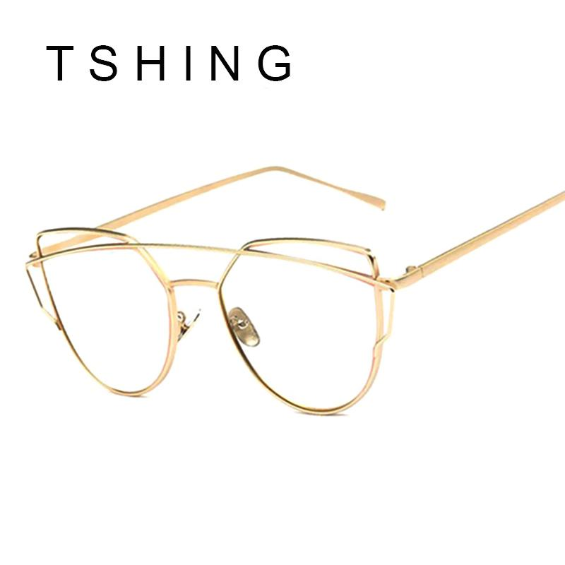97687d6378a Wholesale Women Cat Eye Optical Glasses Frame 2016 New Brand Design Mirror  Rose Gold Clear Cateye Sunglasses Fashion Vintage Lady Eyewear Wholesale ...