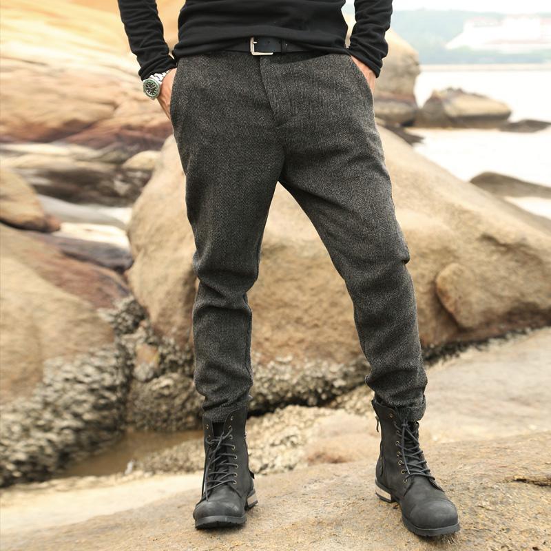4c198074a3b 2019 Wholesale 2016 New England Textured Woolen Pants And Dress Pants Men  Sanding Male Trousers Men S Winter Woolen Pants From Derricky