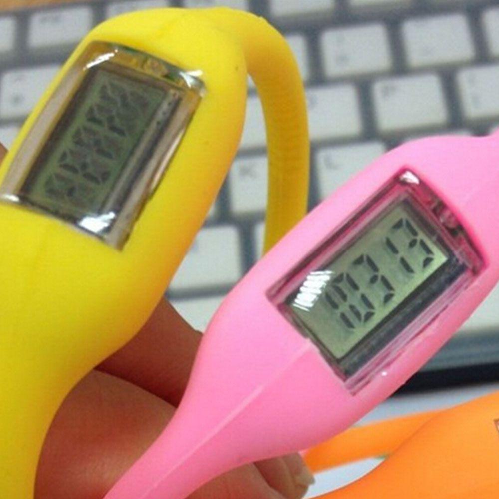 Los podómetros regalos de aniones de silicona rastreador de ejercicios pulsera de silicona pulsera podómetro potable del color del caramelo de goma pulsera podómetro