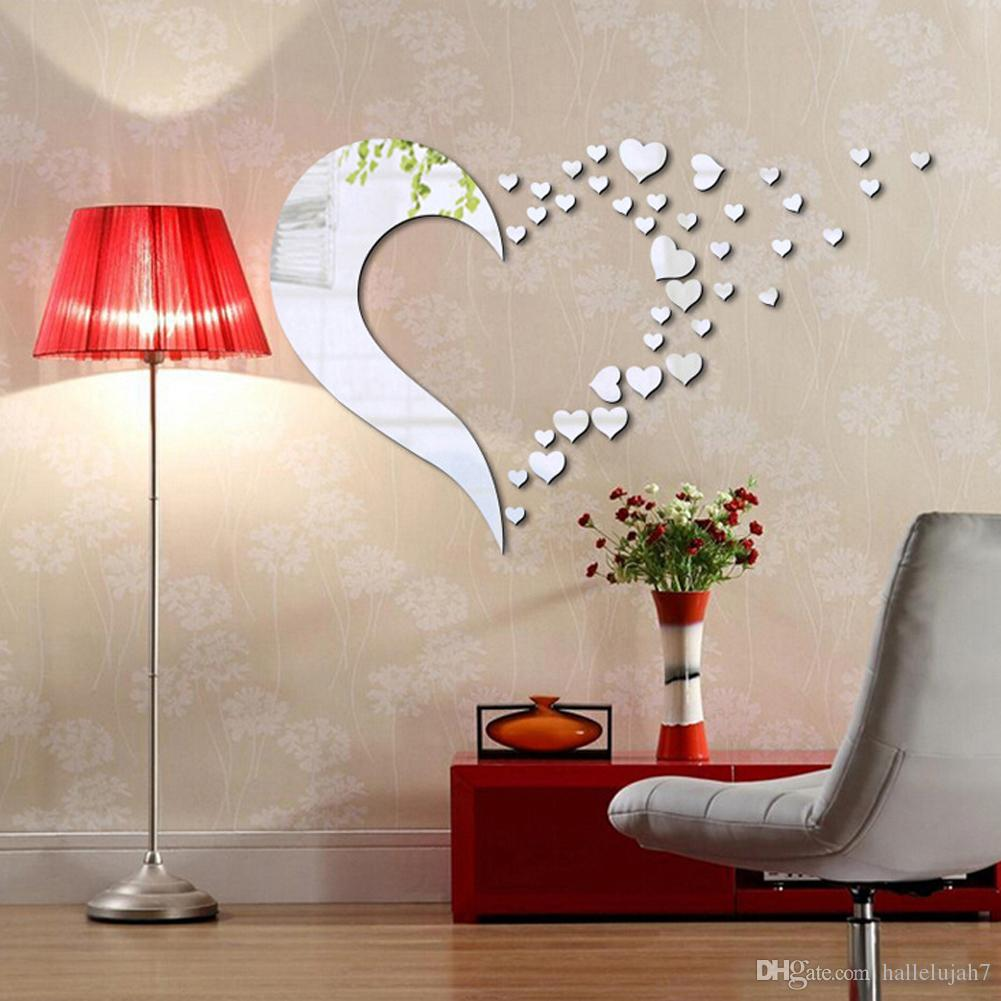 New acrylic 3d mirror stereo wall stickers love combination decals new acrylic 3d mirror stereo wall stickers love combination decals home background decor removable portfolio back self adhesive oversized wall decals owl amipublicfo Choice Image