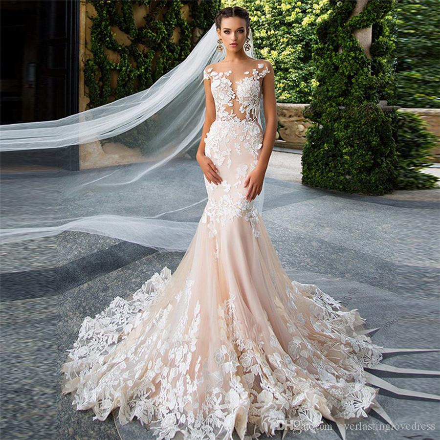 Champagne Vintage Mermaid Wedding Dresses Turkey Lebanon African ...