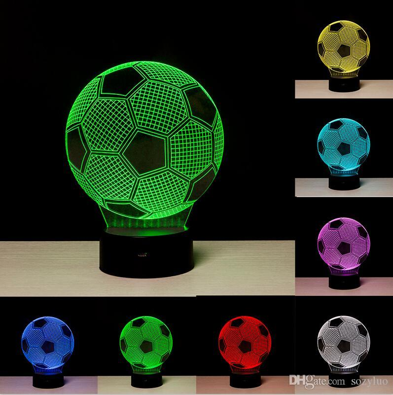 Lampes Créé Couleurs Nuit Nouveauté Table Changement Led De Cadeaux Ballon Noël Visuel Creative Enfant Jouet 3d Lumière Football Rgb cKF1Jl