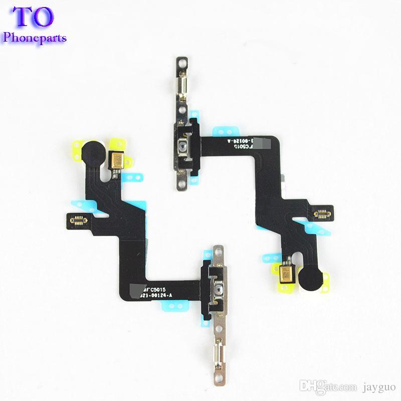 neues Energien-Volumen-Knopf-Mikrofon-Flexkabel mit Metallklammer für iPhone 6S 4.7