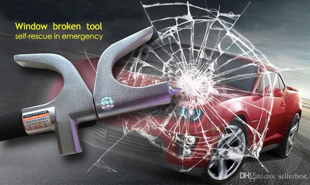 Volant auto Verrouillage de roue universel Fenêtre antivol et auto-secours Outil cassé Matériel en acier inoxydable Sécurité Verrouillage automatique