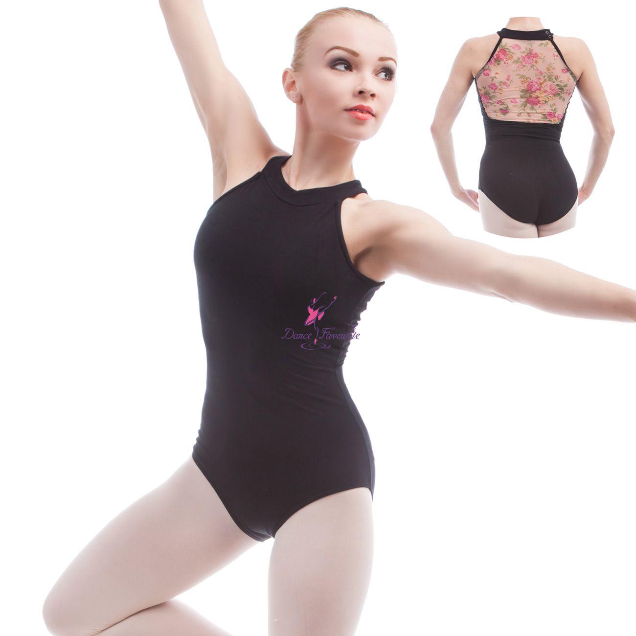 947332e44182 2019 Flower Printed Mesh & Cotton Ballet Leotards For Women Ballet  Dancewear Adult Dance Practice Clothes Gymnastics Leotards 01D0015 From ...