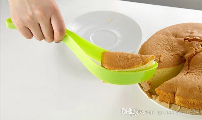 Kek Sunucu Kek Bıçak Pasta Dilimleme Sayfa Kılavuzu Kesici Sunucu Düğün Parti için Dilim Bıçağı Mutfak Gadget