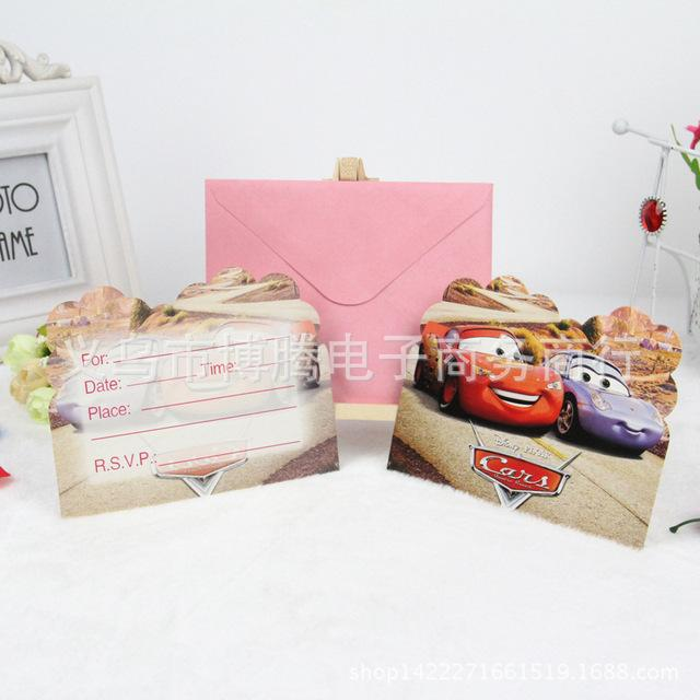 Wholesale birthday party supplies cars birthday invitation card wholesale birthday party supplies cars birthday invitation card greeting card greeting card birthday from brendin 2566 dhgate m4hsunfo