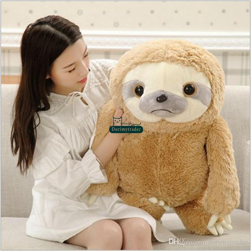 2019 Dorimytrader New Cute 70cm Big Soft Animal Sloth Plush Toy 28