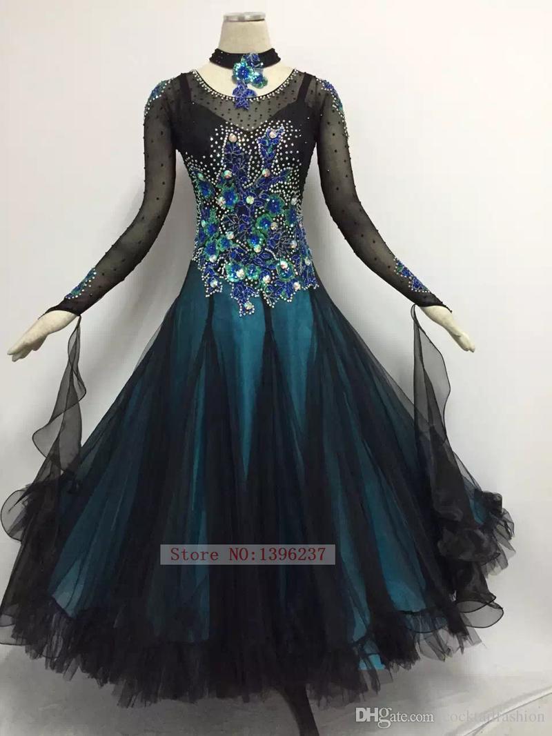 2018 Ballroom Competition Dance Dresses Lady\'S Plus Size Flamenco ...