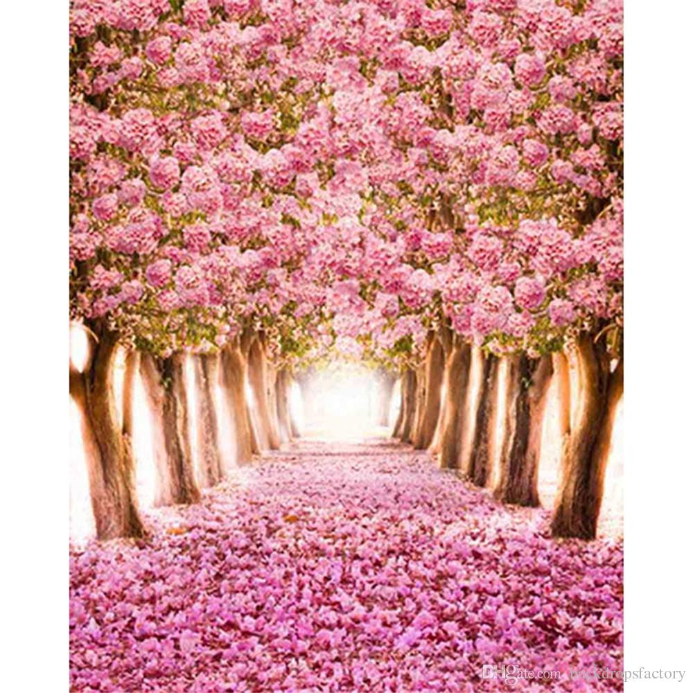 2019 Pink Cherry Blossoms Backgrounds For Photo Studio