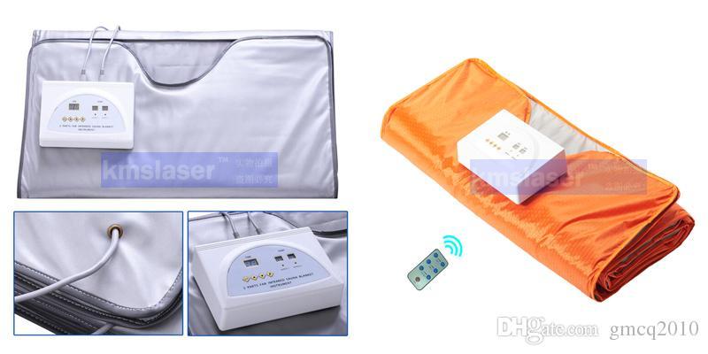 Nuovo modello 2 Zona FIR Sauna FAR INFRARED BODY SLIMMING SAUNA COPERTA riscaldamento terapia Slim Bag SPA PESO PERDITA macchina disintossicazione del corpo