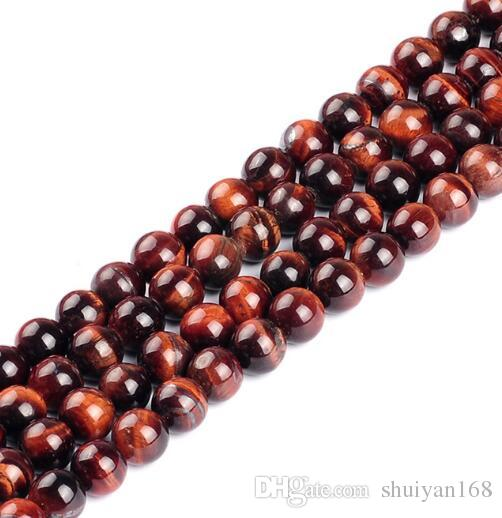 Round Beads Strands DHL Red Tiger Eye Round Beads for Jewelry Making Bracelets Hot Sale for Women Men Xmas Gift