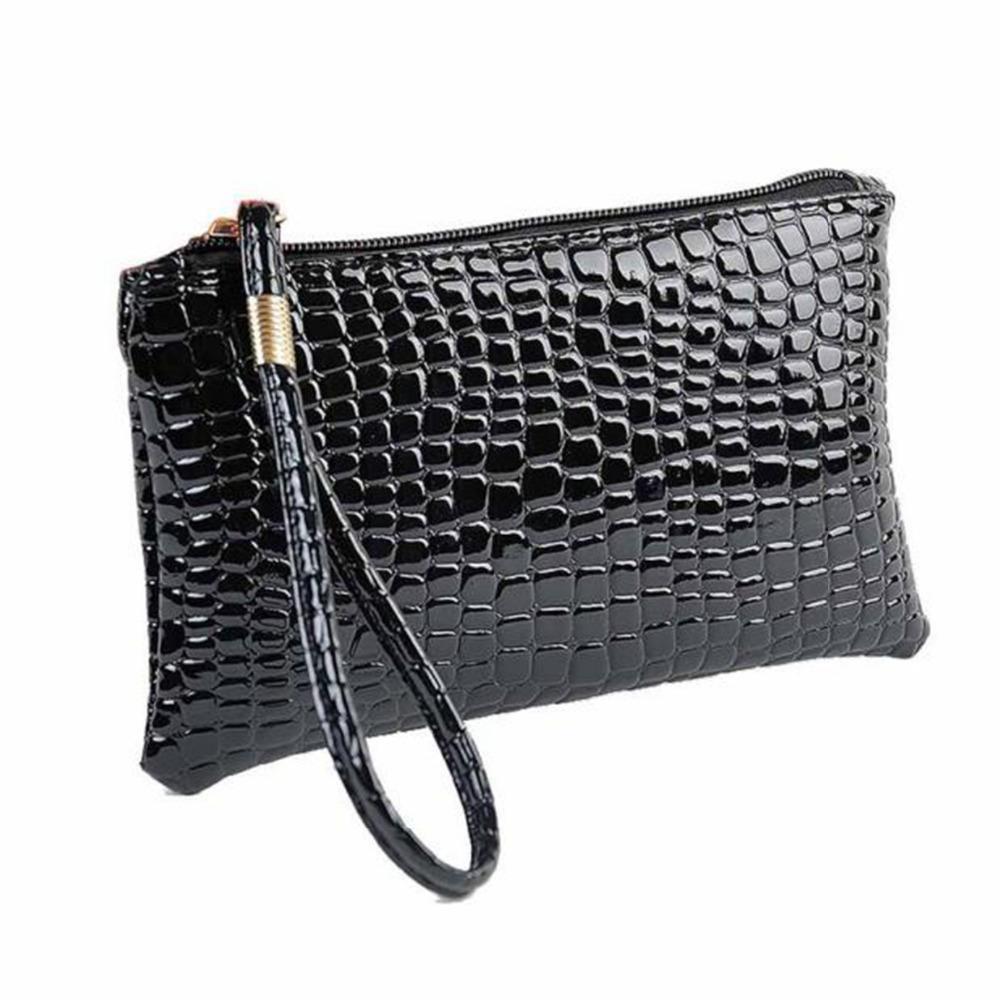 02dd2e2dbe1f Wholesale- Fahion Wallet Womens Crocodile PU Leather Clutch Handbag Coin  Purse Crocodile Purse Clutch Super Quality Carteras Mujer  yl Coin Purse Pu  Leather ...