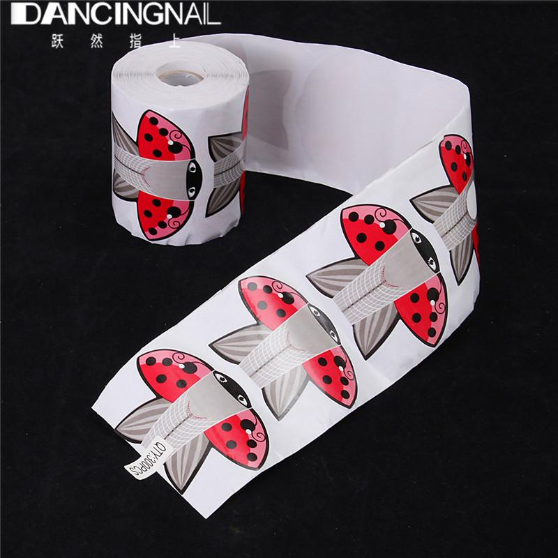 Wholesale /Roll Butterfly Nail Art Forms Guide Tools Nails Art Tip ...