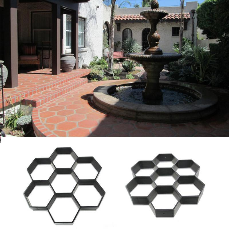 2018 Hexagon Driveway Paving Pavement Mold Patio Concrete Stepping Stone  Path Walk Maker Diy From Hoomook, $6.1 | Dhgate.Com