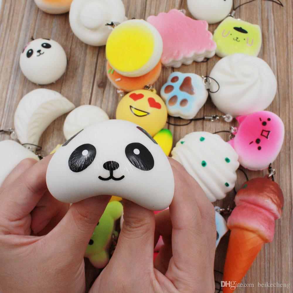 Wholesale /bag Squishy Cat Burger Slow Rising Soft Animal Collection Gift Decor Cat Head Original Packaging Phone Accessories