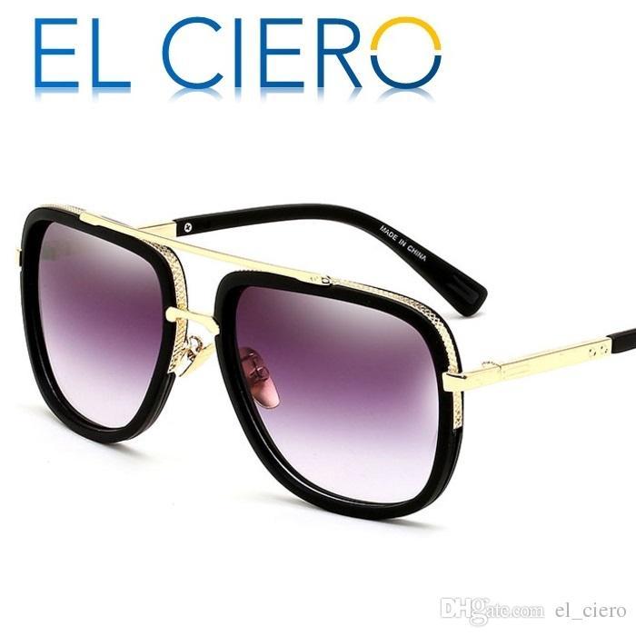 ea2b7f881472d Compre EL CIERO Designer Óculos De Sol Para Homens Mulheres 2017 De Alta  Qualidade Quadrado Óculos De Sol Unisex Moda De Luxo Shades Proteção UV400  De ...