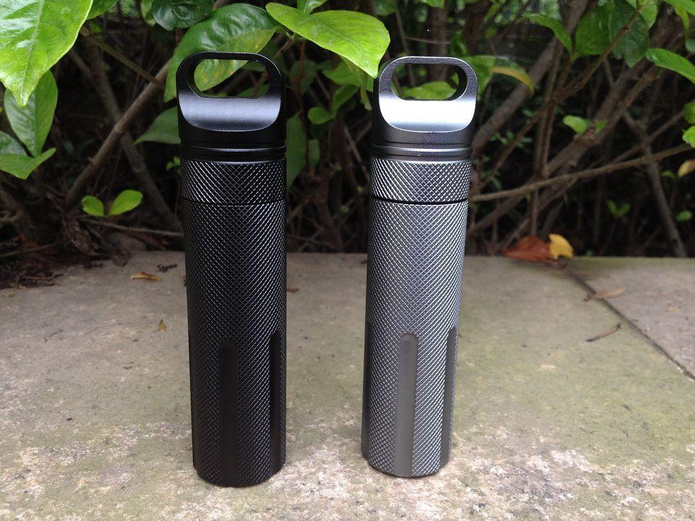 EDC Outdoor Survival Stainless steel Waterproof Tank Medicine Pill Bottle Mini EDC Box Camping Gear Tactical Gear Equipment
