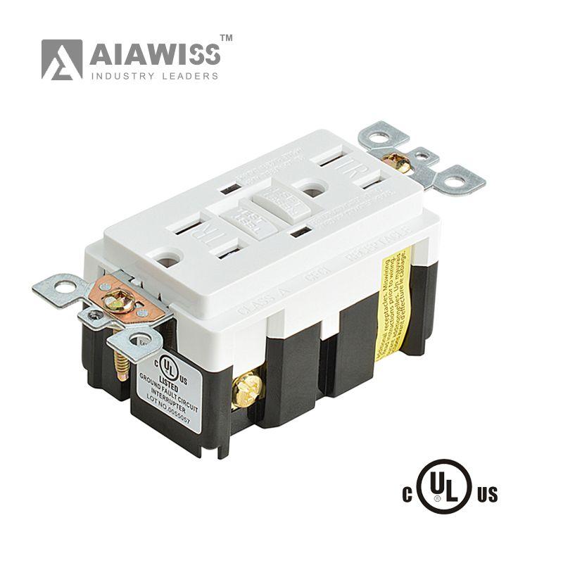 AIAWISS 15A / 20A 125 Volt Müdahaleye Karşı Korumalı GFCI Outlet UL, Alıcı, LED Işık Duvar Sacı White ile indicater