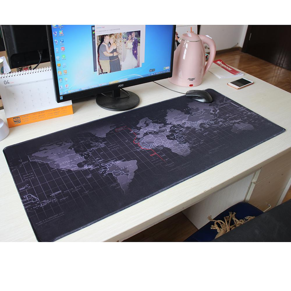 Pbpad Store New Super Large Size 90cm*40cm Grande World Map Mouse Pads  Speed Computer Gaming Mouse Pad Locking Edge Table Mat Gel Wrist Pad Gel  Wrist Pad ...
