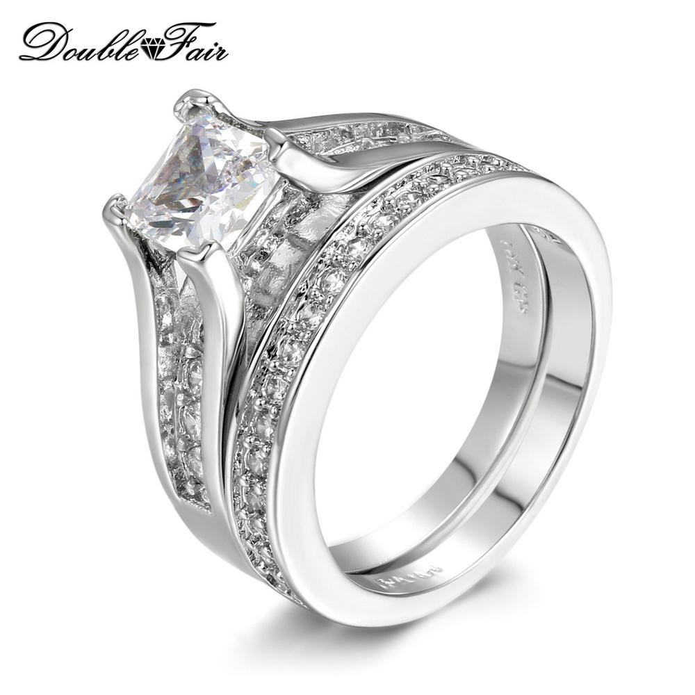 2018 Nobleness Hot Sale White Gold Plated Cz Diamond Brand Rings For ...
