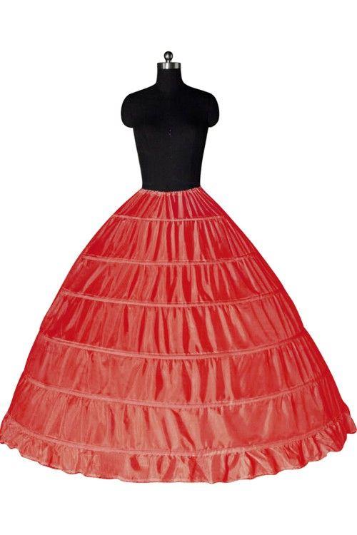 Top Quality Ball Gown 6 Hoops Sottoveste da sposa sottoveste Crinoline In Stock Sottogonna da sposa Strati Slip Skirt Crinoline Quinceanera Dress