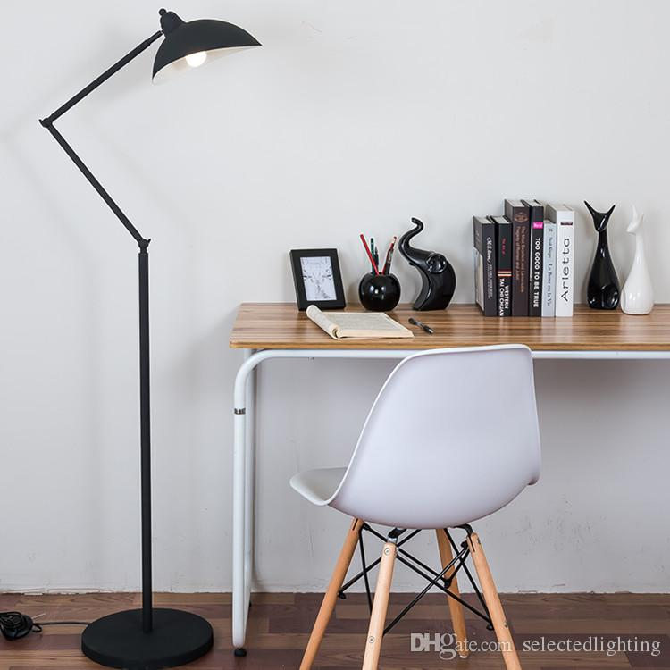 2021 E27 Floor Reading Lamp Creative Modern Minimalist Floor Desk Light Metal Shade Standing Lamp For Bedroom From Selectedlighting 203 53 Dhgate Com
