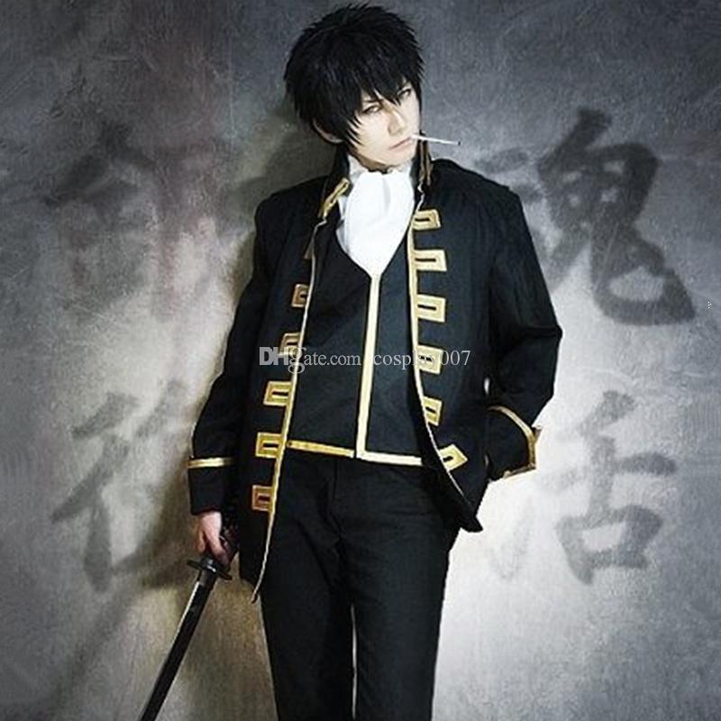 Okita Sougo Cosplay Costumes Full Set Japanese Anime Gintama