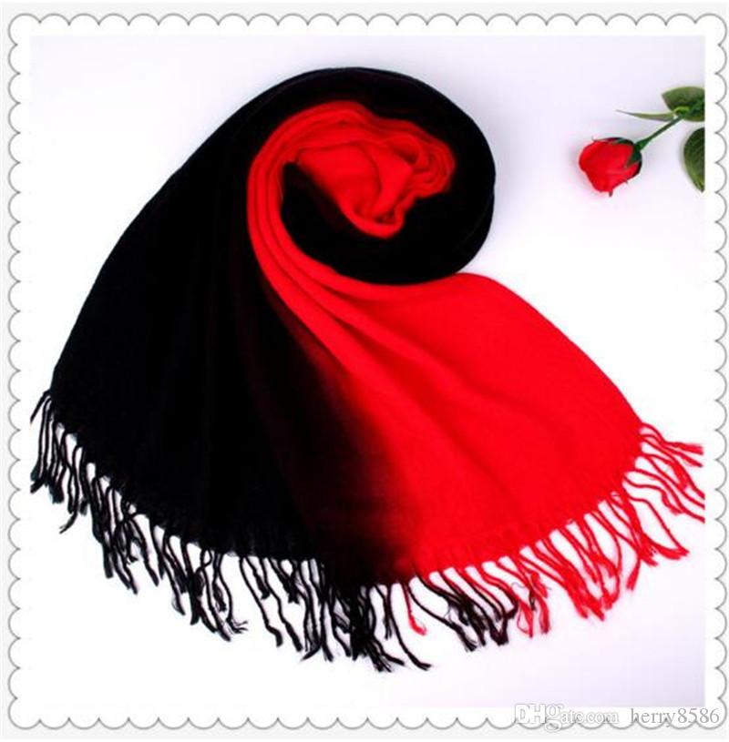 Großhandel Doppel Farbe Schals Für Frauen Winter Weiche Schals ...