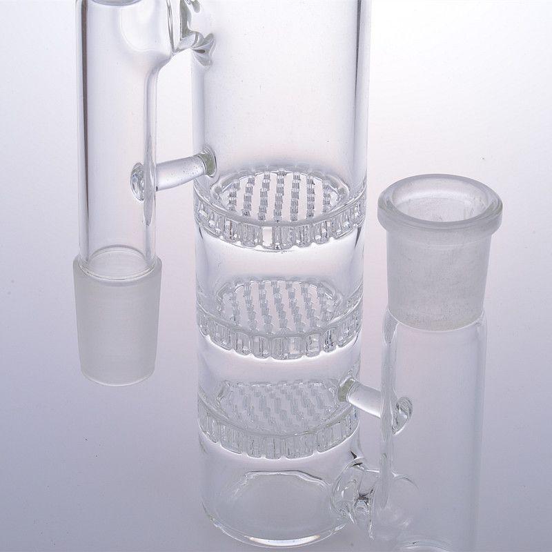 Bong kül catcher 18mm erkek kadın ashcatchers bubbler cam su boruları aksesuarları adaptörü üç üçlü petek perc eklem 18.8mm
