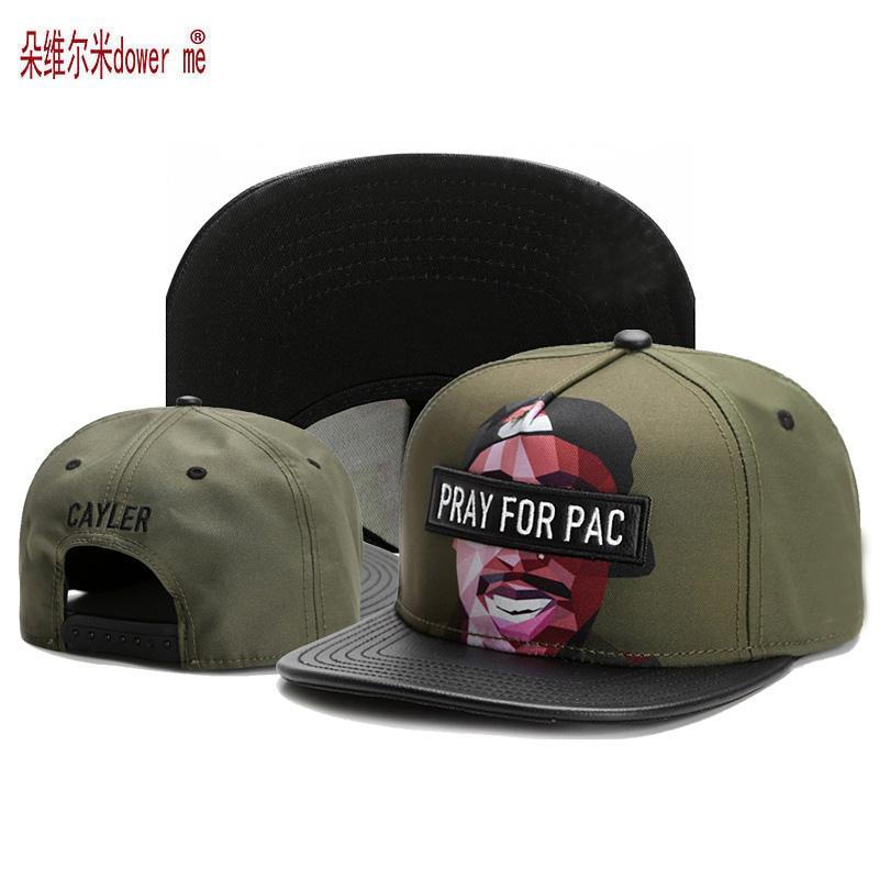b386675f3a992 2019 Wholesale 2017 New Arrive C S Swag Pray For Pac Fashion Hip Hop  Snapback Cap Street Trend Pop Art Gorras Adjustable Men Women Cottom Hat  From Godefery