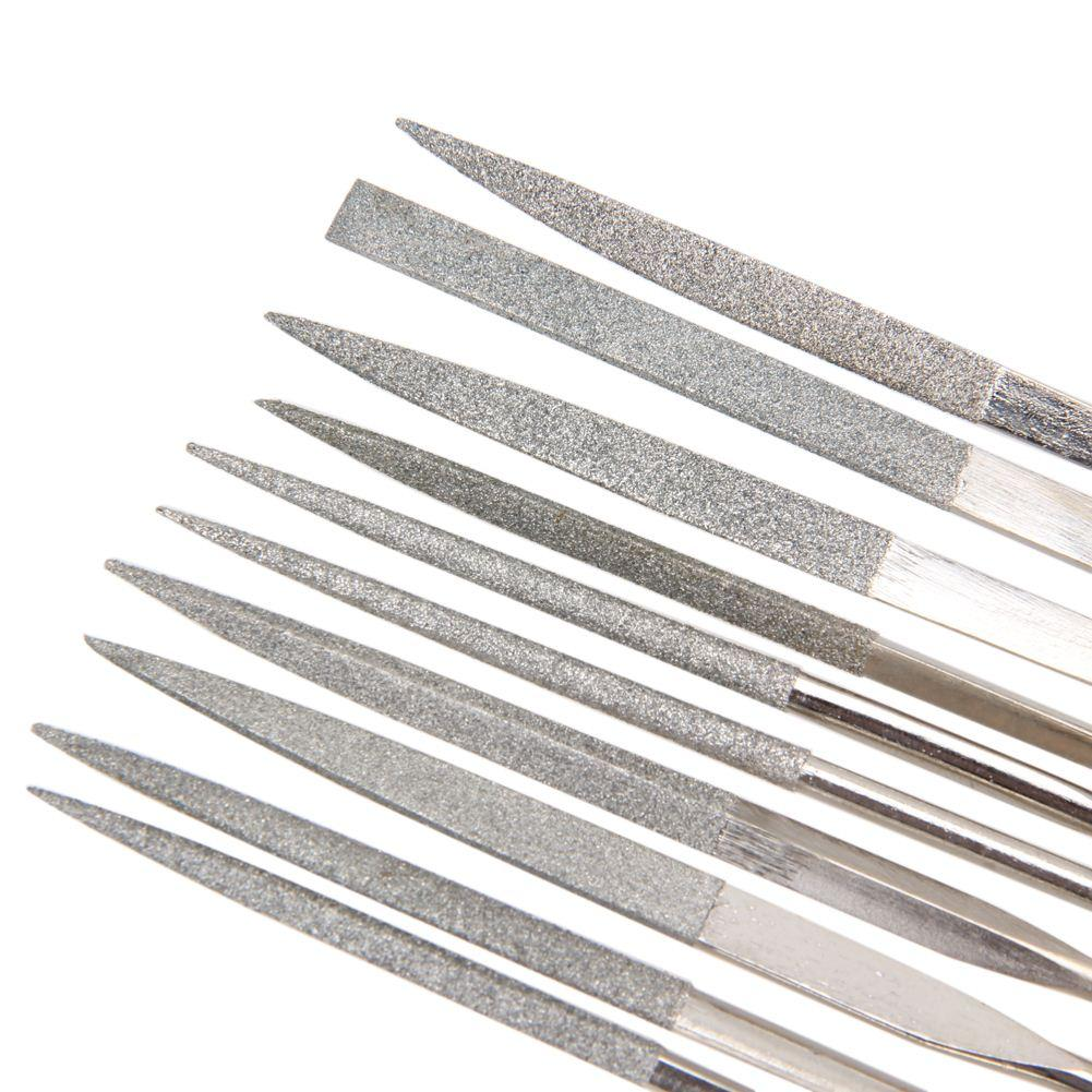 10pcs Guitar Crowning Luthier Files Stainless Steel Dual Cutting Edge Tool Metal Guitar Accessories Cutting Edge Tool Kit