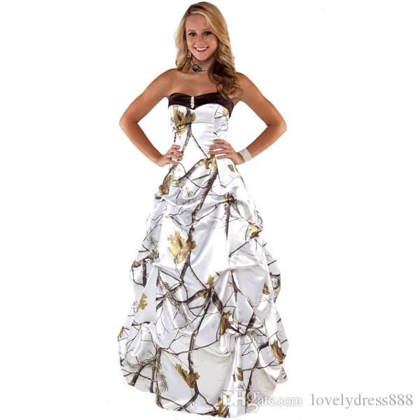 camouflage prom dresses cheap