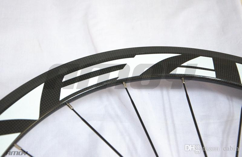 50mm EC90 Carbon Wheels Matte finish cheap price carbon fiber road cycle wheel set painting decals free