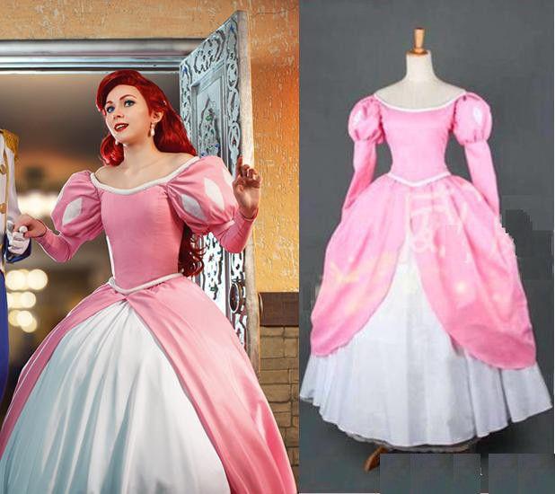 740e5711edc Acheter OISK Personnalisé Princesse Robe Rose Princesse Cosplay ...