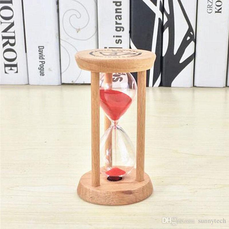 Мода 3 мин деревянный каркас песочные часы Песочные часы Песочные часы стекло счетчик времени обратный отсчет главная кухня таймер часы украшения подарок ZA2551